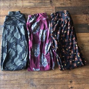 Lularoe 3 pack one size leggings